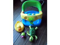 babys bath seat and bath toys .for babys who are sitting age