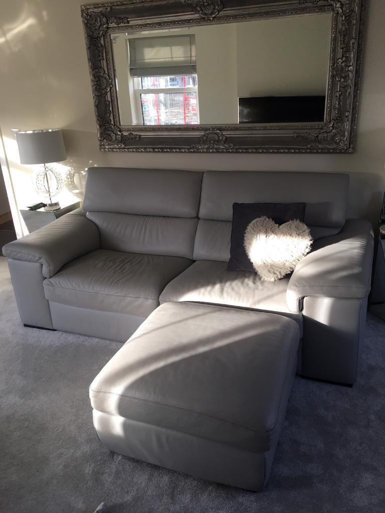 Harvey S 100 Real Full Leather Modern Luxury Sofa Suite Grey In Kingsnorth Kent Gumtree