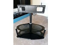 Black glass TV unit with Bracket
