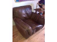 DFS Italian Leather Club Chair