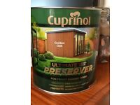 Cuprinol Ultimate wood preserver (golden oak)