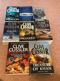 Various Clive Cussler Books £1 each collection Beighton near Lingwood