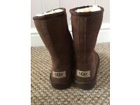 Children's real dark brown Ugg boots size 10- small sizing!!