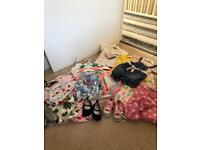 Girls spring/summer clothes/shoes bundle, age 9-12 & 12-18 months