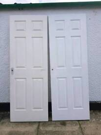 2 interior doors both 28&1/2 by 80&1/4 sizes