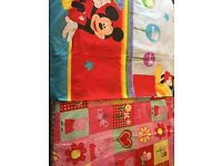 2 Children's Single Bed Duvet Covers and 1 Toddler Bed Duvet Cover