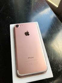 iPhone 7 128gb Rose Gold Matt black unlocked