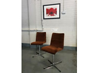 Mid-century Oxford swivel chairs + Free delivery