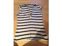 Women's blue and white strip Top Size 12