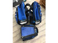 Oxford soft luggage. Rear panniers and tank bag for sports bike