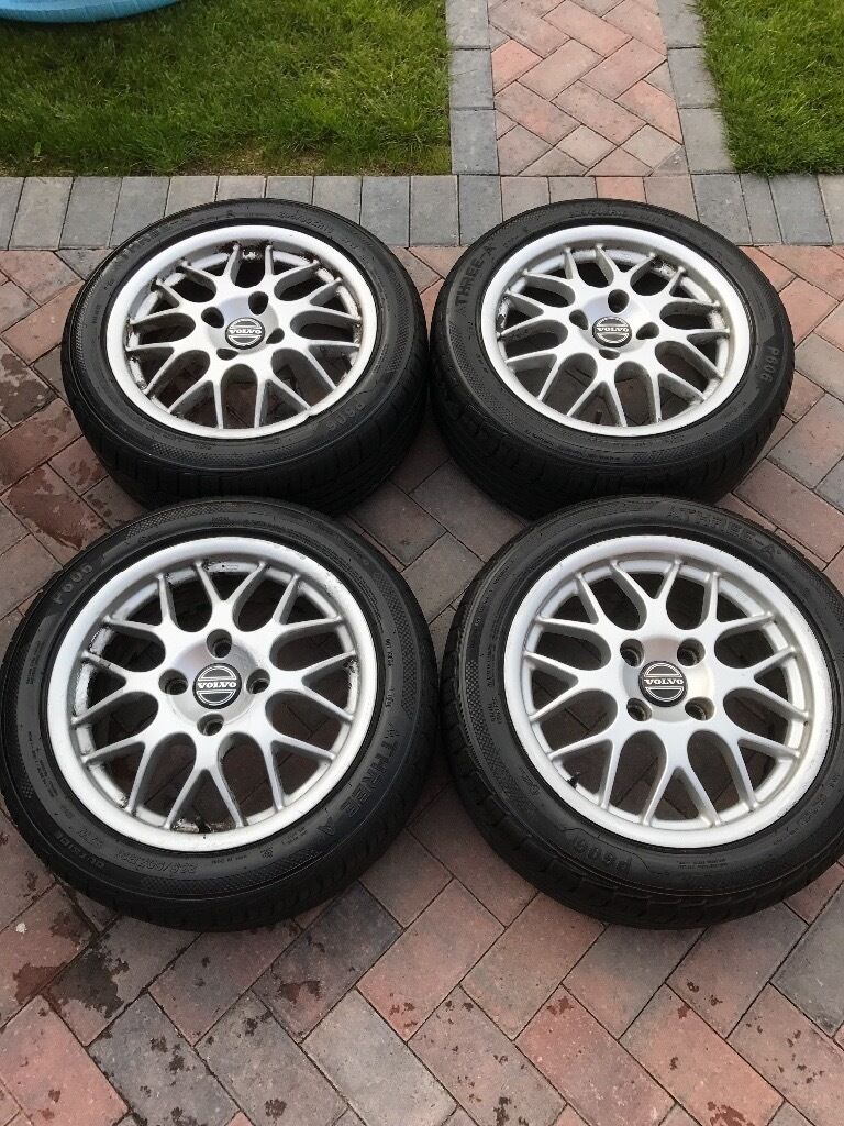 Volvo V40 S40 T4 Bbs Alloy Wheels 205 50 16 Tyres In
