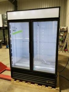 True GDM-49 Two Glass Door Commercial Cooler Refrigerator