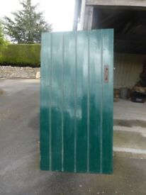 Pine door - painted one side , pine the other