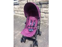 sale * HOUSE CLEARANCE * easy travel purple CUGGLO UMBRELLA PRAM easy to fold and set up