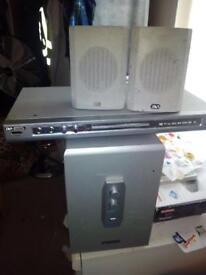 Acoustic DVD player and speakers