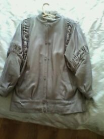 Ladies Mink Leather Jacket size 12/14 excellent condition