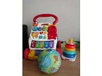 bundle of toys baby walker stacking tower and the globus