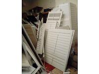 Job lot of expensive shutter blinds bargain