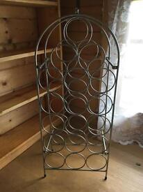 Metal silver wine rack