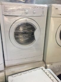 nice white indesit washing machine 6kg 1200 spin in excellent condition in full working order