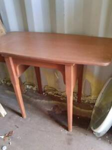 Oakville Mid-Century Sewing Table Solid Wood FLIP-UP TOP