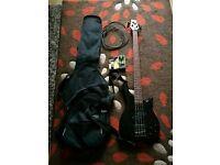 Vintage bass guitar