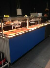 x2 MOFFAT catering hotcupboards with glass shelf above