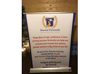 Branded pop up standing display boards and signboard for sale