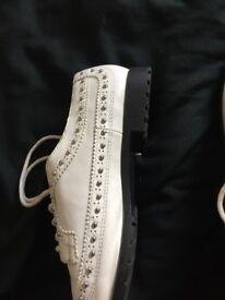 Size 5 Ladies River Island White Studded Shoes