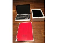 iPad Mini 4 16GB Silver Wifi + Cellular UNLOCKED with Apple Smart Cover (Red)