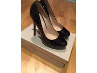 Dune Befriend black court shoes size uk 5