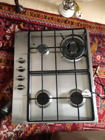 Stainless Steel Gas Hob nearly new