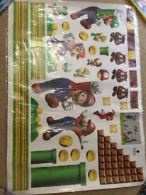 Mario children's wall stickers