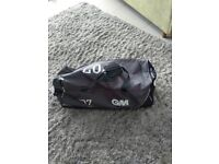 Gunn & Moore cricket bag complete with bat, helmet pads, guard, gloves & top