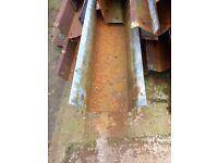 Galvanised steel guttering