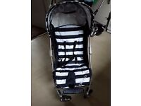 Navy blue stripe pluto stroller