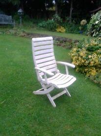 Set of four Allibert White Garden Chairs