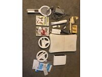 Wii & Wii U Bits and pieces. Console and remotes turn on and other parts £5