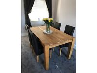 Solid Oak Dining Table & 6 Chairs Available