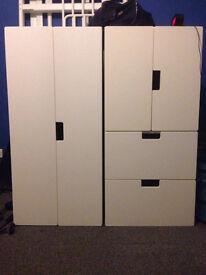 IKEA Children's white wardrobe and drawers set (STUVA)