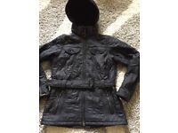 Ladies Black Barbour Coat size 12