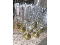 Gold glitter champagne glasses - 16 £15