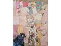 Baby girl bundle cloths 0-3 50 items