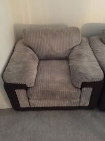 DFS Sofa and Chair in Mink
