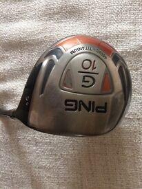 Ping G10 Driver Good Condition Fujukuri Stiff Shaft