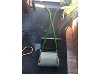 Vintage hand mower with grass box
