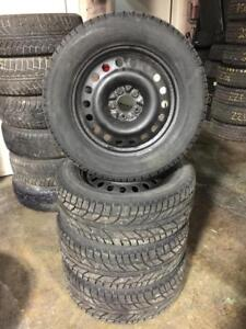 235 60R 17 COOPER WEATHER MASTER WINTER SNOW TIRES & RIMS 2015 FORD TAURUS/MUSTANG 5X114.3 BOLT IN EXCELLENT CONDITION
