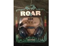 BRAND NEW House Of Marley Roar On-Ear Headphones with 1 Button Controller and Mic