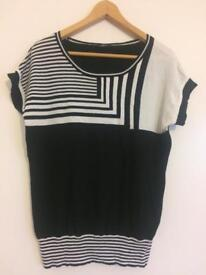 Brand Barbara Lebek ladies black and white top size 14/16 £15