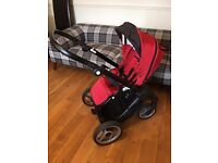 Mutsy evo pram/buggy/stroller, 3 in 1 travel system